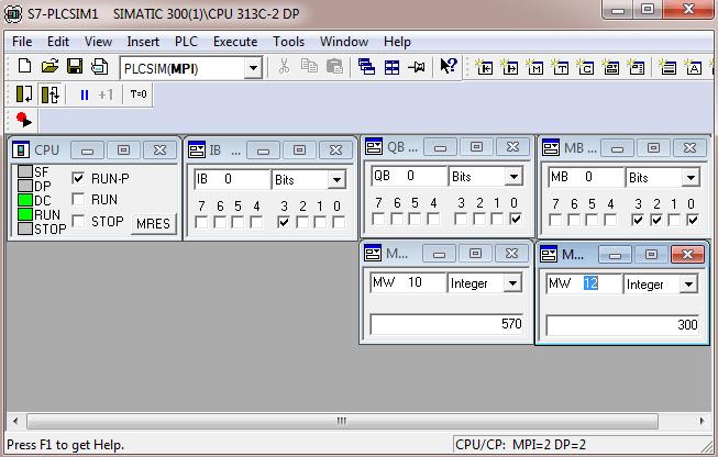 Mô phỏng chương trình PLC S7300