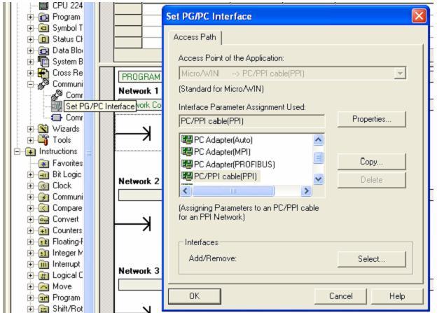 Kết nối PLC S7-200 với máy tính (Bước 1)