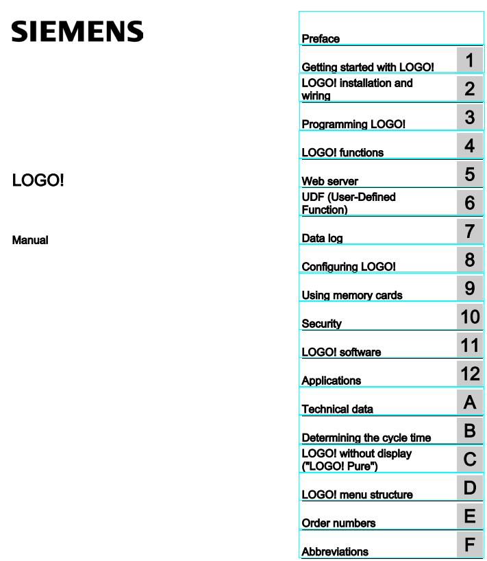 Tài liệu PLC Logo Siemens