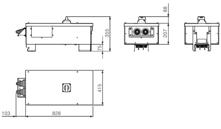 Tap off Box Size 2 - Busway LX Siemens
