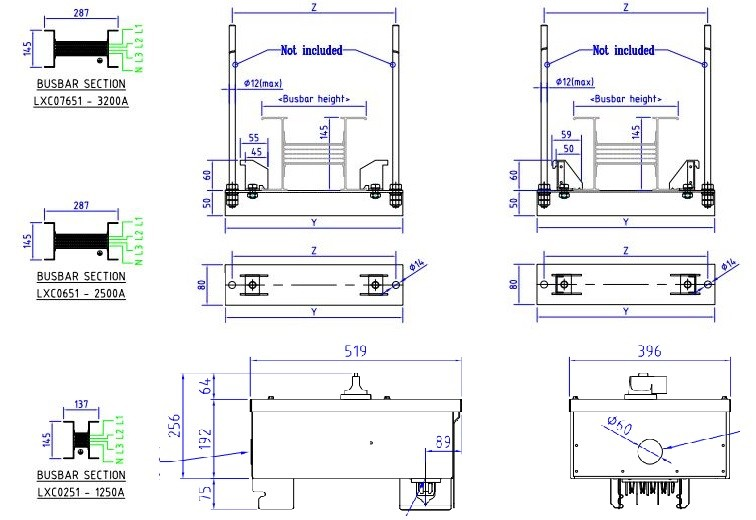 Bản vẽ thiết kế Busway - Phụ kiện