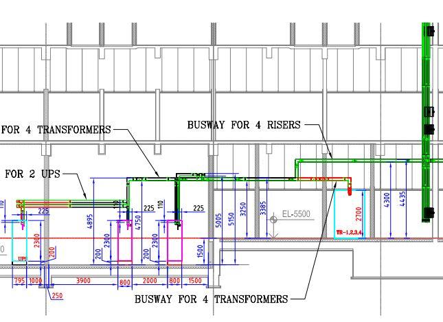 Bản vẽ thiết kế Busway mặt phẳng chiếu