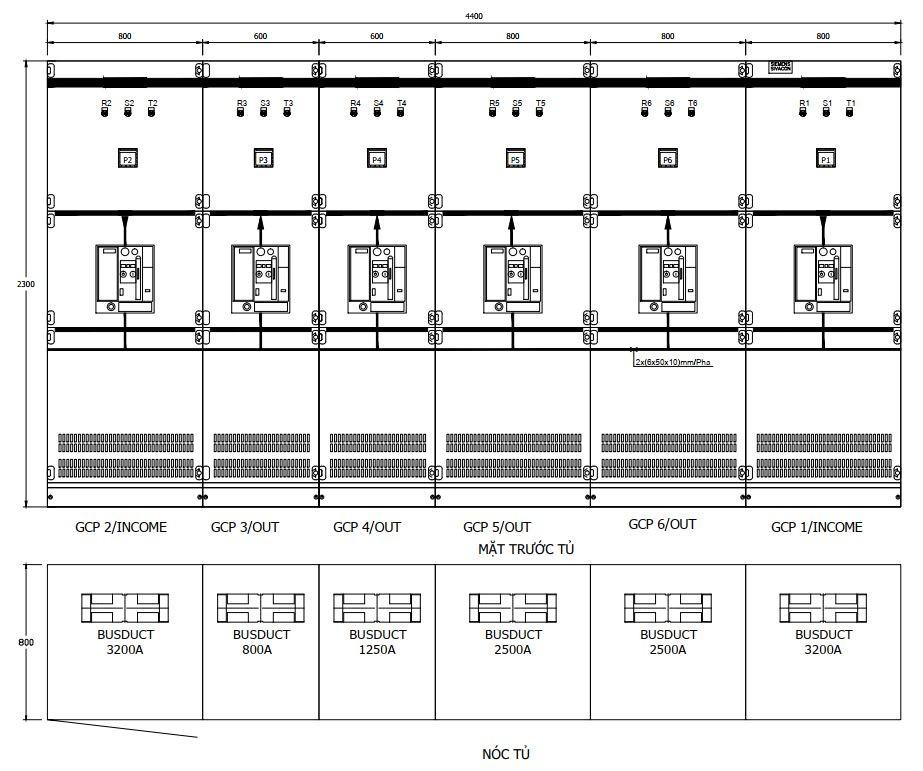 Bản vẽ thiết kế tủ điện công nghiệp