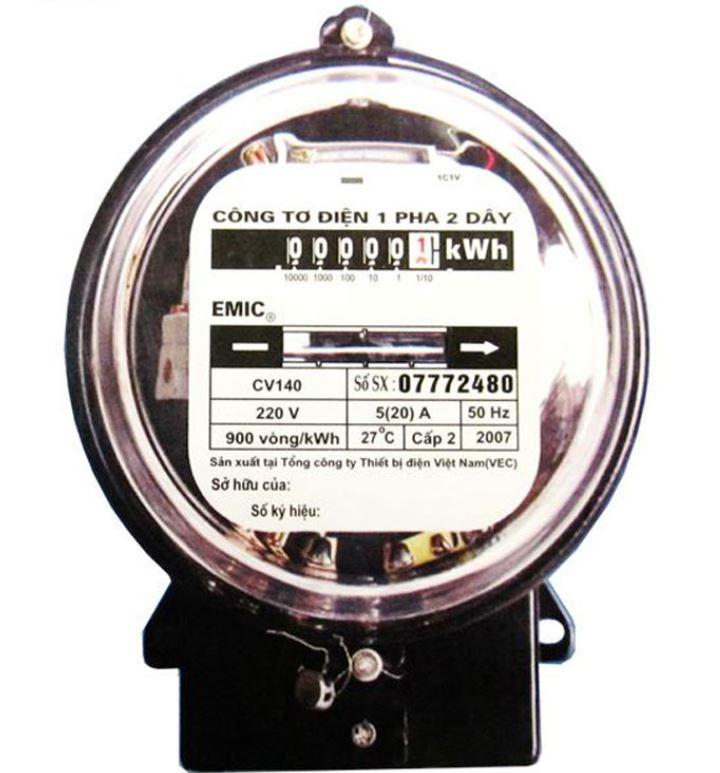 Công tơ điện 1 pha Emic