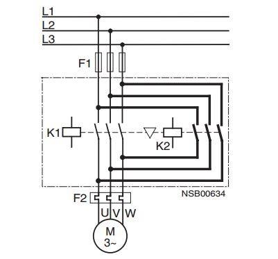 Mạch động lực contactor 3 pha điều khiển động cơ 3 pha