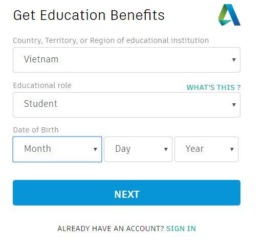 Tạo tài khoản Autocad free