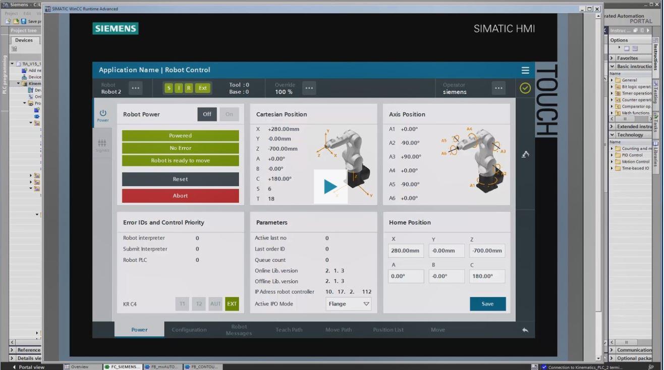 Lập trình Robot công nghiệp tích hợp trong TIA Portal Siemens