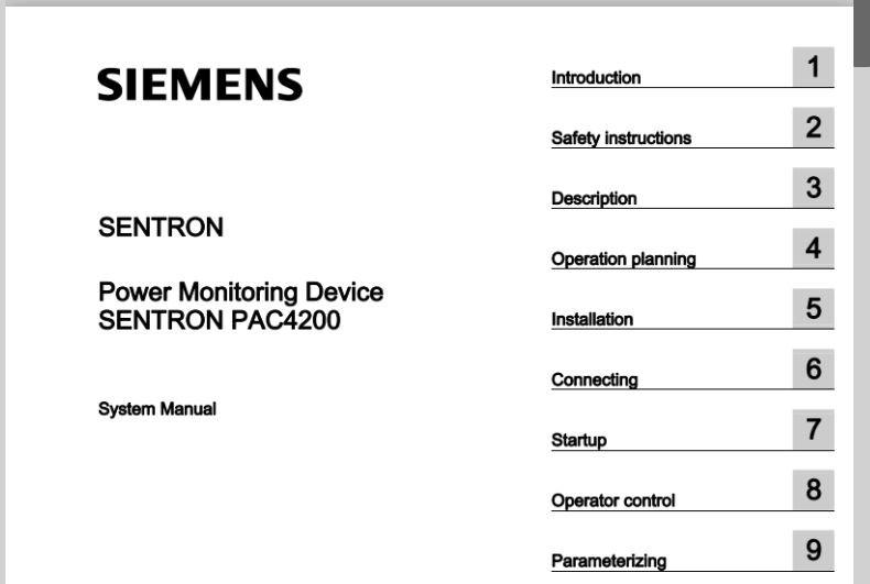 Tài liệu Sentron PAC4200 manual