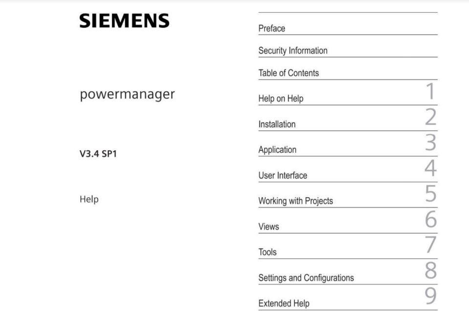 Tài liệu phần mềm Powermanager Siemens