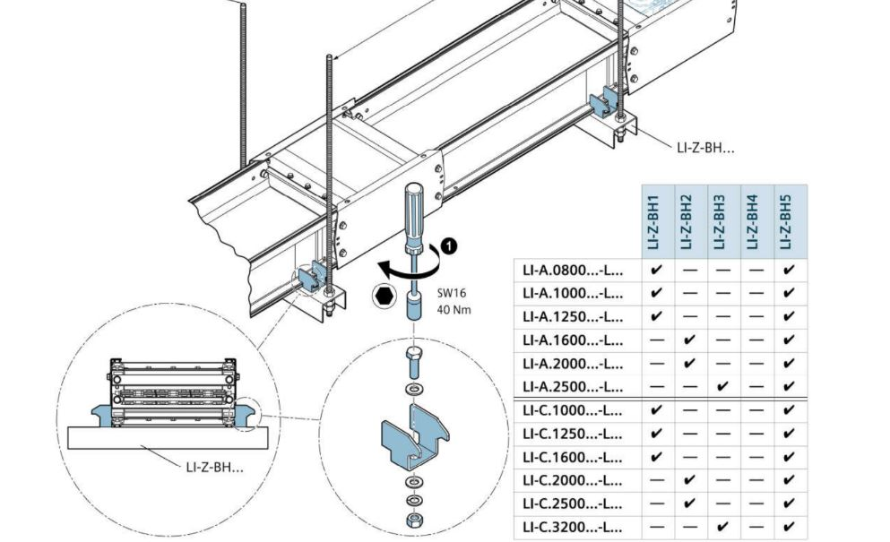 Tài liệu phụ kiện trục ngang busway LI Siemens