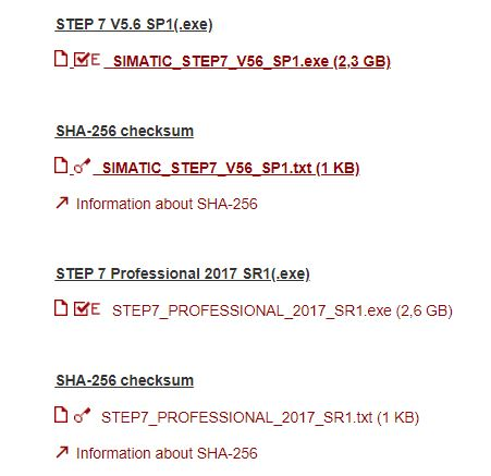 Lựa chọn phiên bản Step 7 Siemens