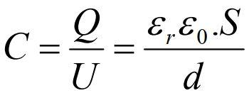 Công thức tính dung lượng của tụ điện là gì