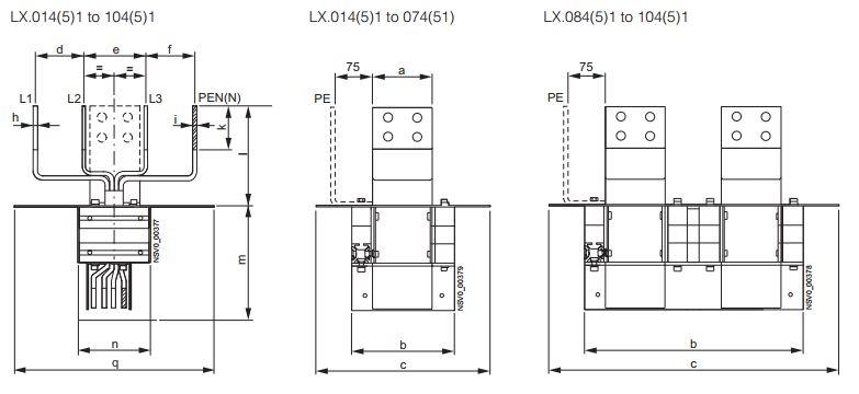 Kích thước một số loại Flanged end LX Siemens (3P4W)