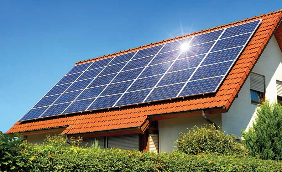 Ứng dụng pin mặt trời cho điện mặt trời áp mái