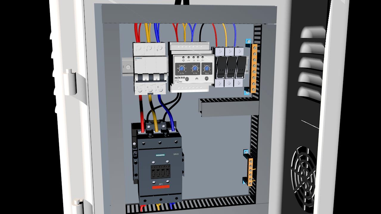 Tủ điện bảo vệ mất pha - đảo pha - sụt áp - quá áp