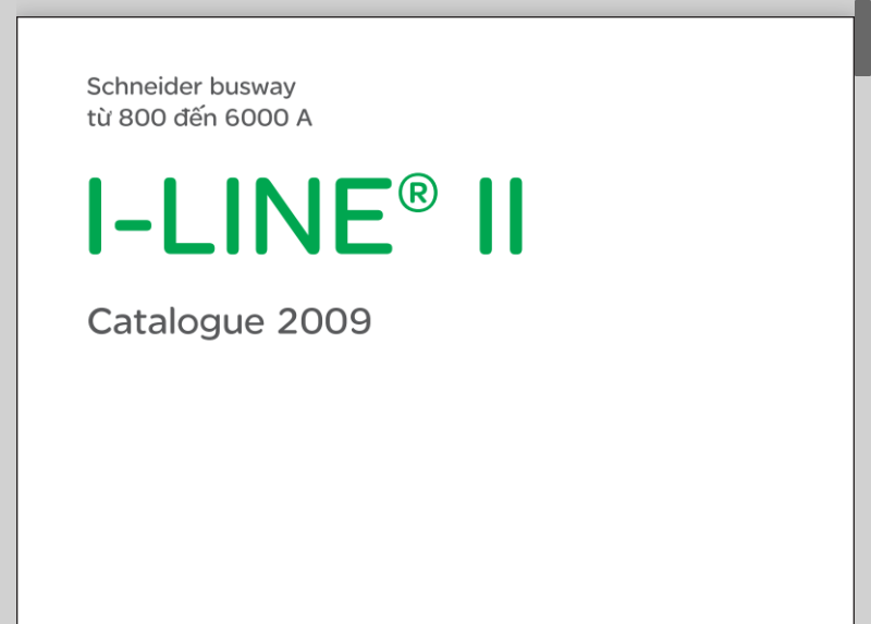 I line II Catalog Busway Schneider Tiếng Việt