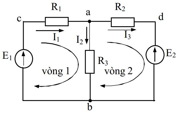 Ví dụ 1 định luật Kirchhoff 2