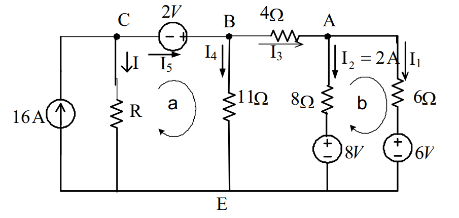 Ví dụ 2 kết hợp định luật Kirchhoff