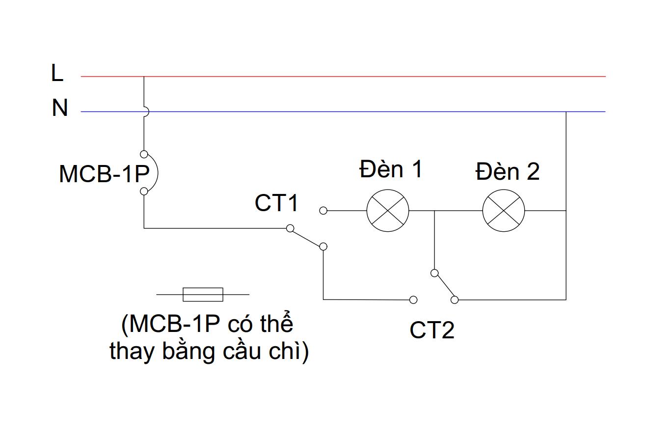 Mạch đèn 4 chế độ - chế độ 1