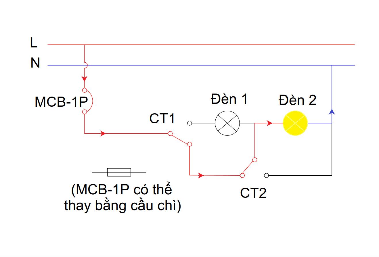Mạch đèn 4 chế độ - chế độ 2