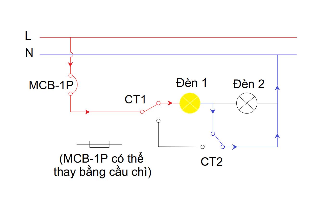 Mạch đèn 4 chế độ - chế độ 3