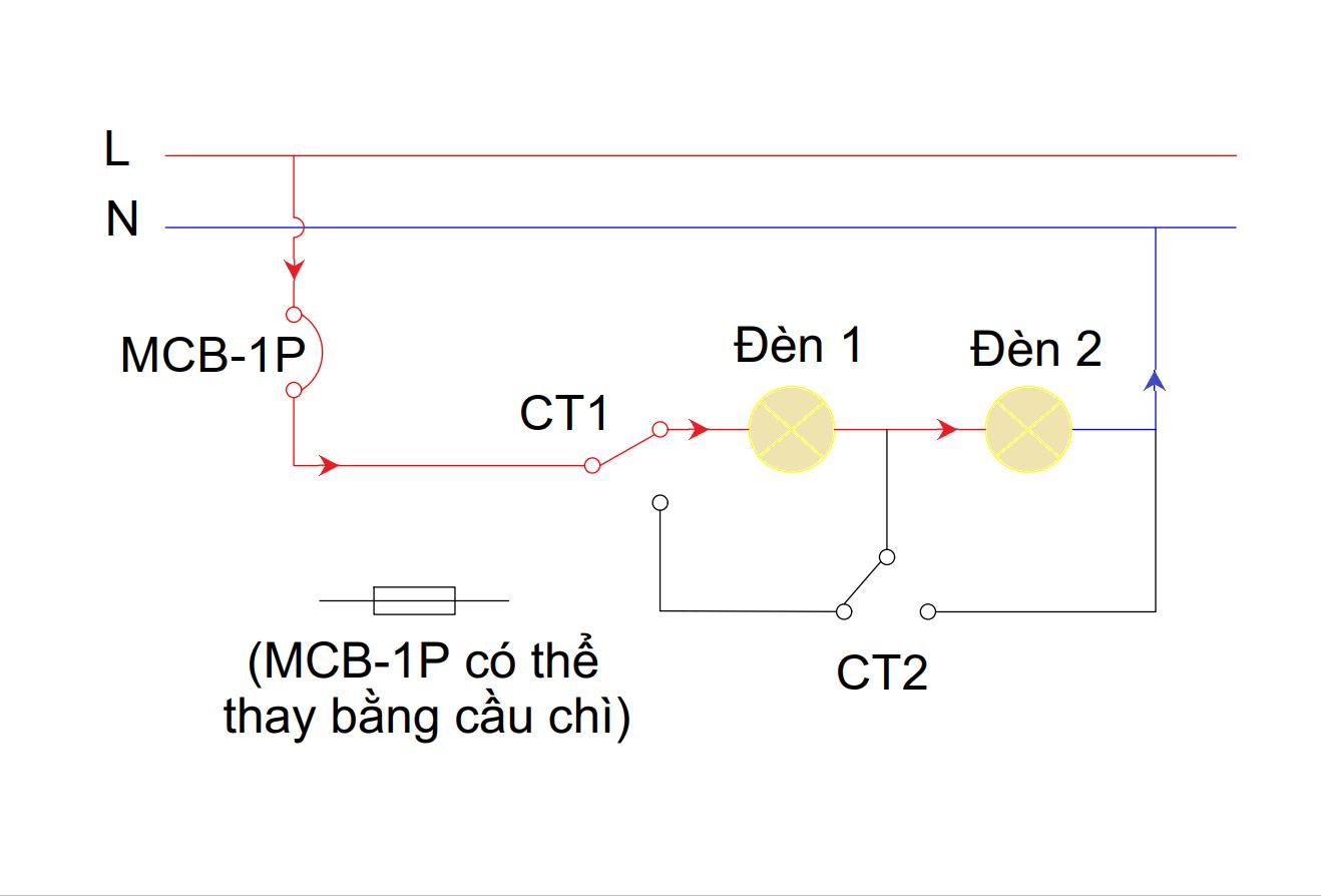 Mạch đèn 4 chế độ - chế độ 4