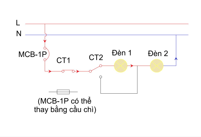 Mạch đèn sáng tỏ sáng mờ - chế độ 1