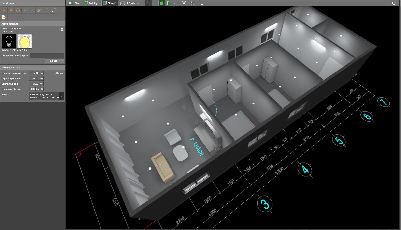 Thiết kế chiếu sáng bằng phần mềm dialux evo