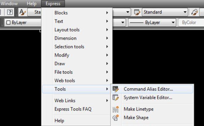 Sửa lệnh tắt trong Autocad cho các phiên bản cũ