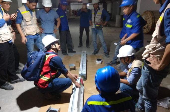 Hướng dẫn lắp đặt Busway dự án Tòa nhà Viettel Building B