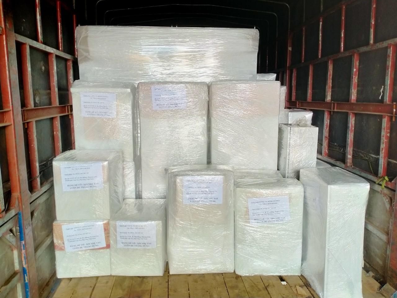 Vận chuyển tủ điện về dự án bệnh viện đa khoa Việt Đức Phú Thọ